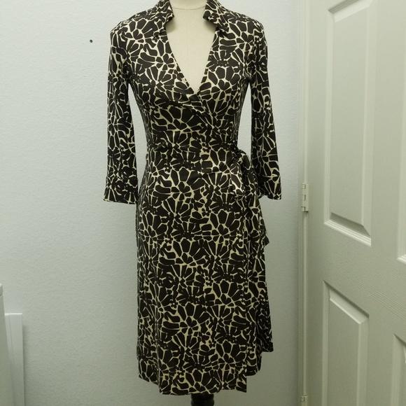 78081c9d78e14 Diane Von Furstenberg Dresses | Silk Leopard Wrap Dress | Poshmark
